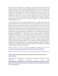 effects of tv violence on children literature review 2