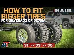31 Tire Size Chart How To Fit Larger Tires On Your Chevy Silverado Or Gmc