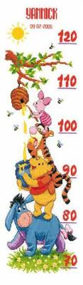 Cross Stitch Height Chart Kit Nursery Samplers And Height Chart Cross Stitch Kits The