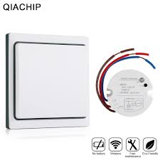 Wireless Remote Light Control Us 11 83 53 Off Qiachip Wireless Remote Control Light Switch Kit No Need Battery Smart Home Switch Digital Remote Light Controller Ac 110v 240v In