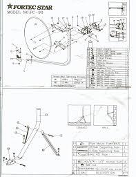 fortec star fc90 u bolt dish 36 90cm offset installation diagram 90u dish network installers
