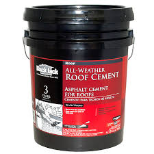 BLACK JACK 4.75-Gallon Fibered Waterproofer Cement Roof Sealant