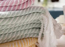 cotton herringbone throw  made in usa  brahms mount