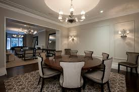 image of what size rug under 60 inch round table formal