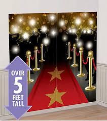 hollywood red carpet night scene setter party 5 wall decor kit paparazzi