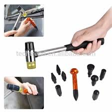 10pcs Car Body Dent Removal Tools Aluminum Hammer With Knock Down Head Tap Set