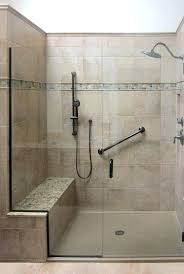 bathroom shower seats spacious shower with built in bench grab bar and additional shower head bath bathroom shower seats