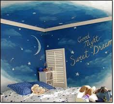 cool bedroom wall designs. Cute Bedroom Wall Design With Blue Color For Kids Cool Designs E