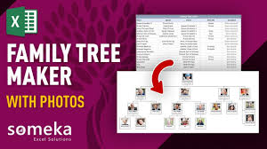 Family Tree Picture Template Family Tree Maker With Photos Automatic Excel Template