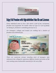 Full And High-definition Ids Fake Licenses Freedom Enjoy With