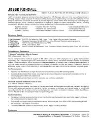 Information Technology Resume Templates Microsoft Word Example For ...