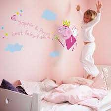 peppa pig bedroom wall stickers