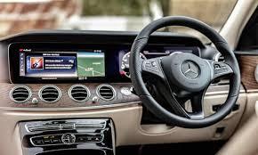 Change original mechanical dashboard to widescreen digital dashboard. Mercedes Benz E350d All Terrain Preview A Mud Squelching Delight Motoring The Guardian