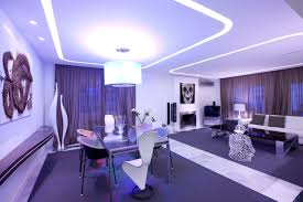 Purple Accessories For Living Room Interior Elegant Purple Living Room Glass Dining Table Pendant