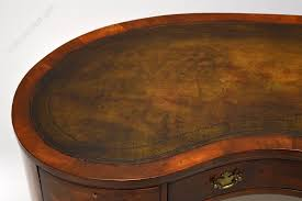 antique burr walnut leather top kidney shaped desk antique desks london writing tables