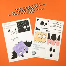These craft ideas are perfect for preschoolers and the ideal homemade gift for a few special someones! Free Printable Halloween Fun Cards With Coloring Option