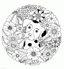 Never run out of pages to color again! Puppy Coloring Pages For Adults Coloring Pages Printable Com