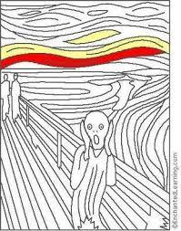the scream coloring sheet. Wonderful Scream Edvard Munch The Scream Coloring Page  EnchantedLearningcom Throughout Sheet N