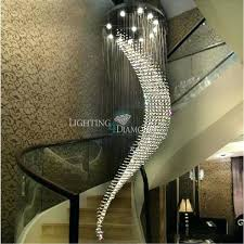 large spiral crystal chandelier light fixture villa lamp for staircase hallway lobby decoration l spiral collection steel frame crystal chandelier