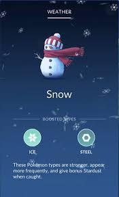 Pokemon Go Weather Chart Pokemon Go Weather Chart Increased Spawn Rate And Bonus