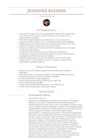 Senior Network Engineer Sample Resume Letter Example