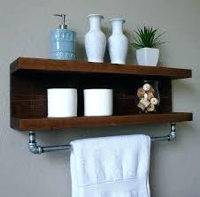 bathroom shelf with towel rack shelf with towel bar handmade bathroom shelf with towel bar a bathroom shelf with towel