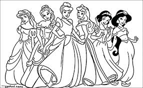 Disney Princess Coloring Pages Free Princess Coloring Pictures