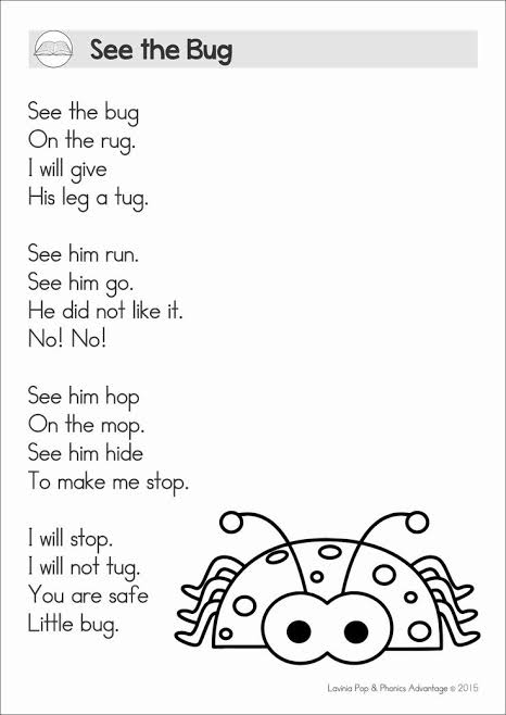examples of poem with rhyming words