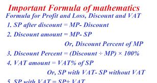 Profit Loss Formula Formula For Profit And Loss Discount And Vat Edcopy Com