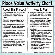 Place Value Activity Chart Up To 4 Digit Numbers Freebie