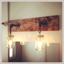 vanities double vanity light fixture rustic modern wood handmade mason jar light fixture barn wood