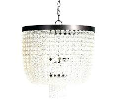 crystal beaded chandelier pottery barn modern bead shade b