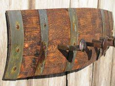 Wine Barrel Stave Coat Rack Wine barrel stave gathering basket 100 100100100 Fletchers 20