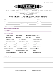 Estimates Templates Free Landscaping Estimateemplate Samples Excel Free Printable Forms