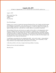 Example Of Nursing Cover Letter New Grad Nurse Cover Letter Examples Resume Cover Letter 18