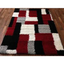black and red area rugs umwdining com for white prepare 15