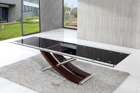 enchanting black rectangle modern glass extendable glass dining table varnished ideas hd wallpaper photos