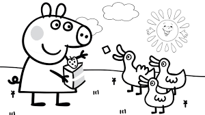 Pig Coloring Book Peppa Colouring And Crayons Pages Free Printable