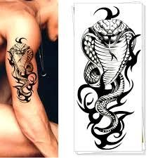 армия черная кобра временные татуировки боди арт флэш татуировки