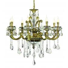 trans globe jd 8 ab antique brass 8 light crystal chandelier antique brass teardrop crystals