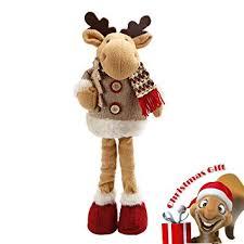 happon christmas reindeer figurine toy xmas home indoor table ornament christmas standing decor 13 5 tall