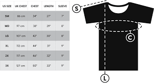 Unisex Cotton T Shirt Size Chart Lookhuman Size Guide Lookhuman Funny Pop Culture T