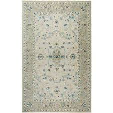 shabby chic chandler nia ivory blue 7 ft 10 in x 10 ft