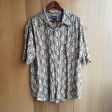 Patterned Button Up Shirts Impressive Vintage Shirts 48s Style Dad Frat Printed Button Up Shirt Poshmark