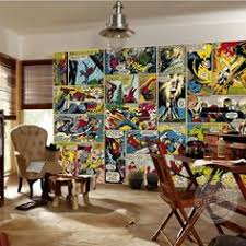marvel comic strips superhero photo wallpaper mural on marvel comic book wall mural with i m doing a comic book themed game room marvel comic book xl wall