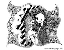 Small Picture Adult Halloween The Nightmare Before Christmas Coloring Pages
