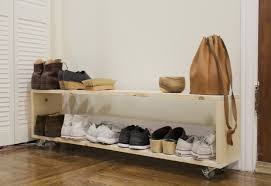 small space diy a perfect shoe rack for a narrow entryway the organized home