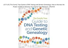 Genetic Family Tree E P U B The Family Tree Guide To Dna Testing And Genetic Genealogy