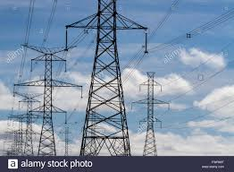 Electrical power lines runs from the Ontario Power Generation in