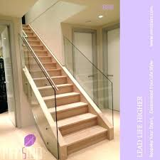 glass stair railing cost indoor side mounted view staircase bangalore staircase glass railing cost
